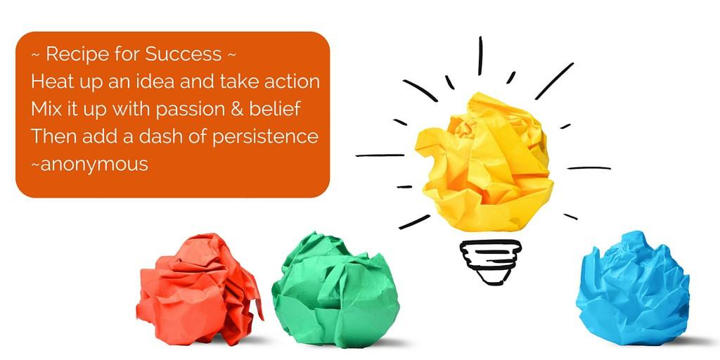 recept voor succes, idee, succes, wanneer is idee succes,bedrijfsidee, quote, ympossible, yvette haas, training, online training, gratis